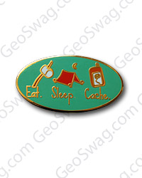 Eat Sleep Cache Pin Badge